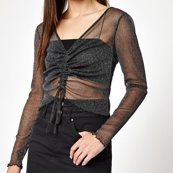 d723253bceed Kendall & Kylie Tops | Kendall Kylie Ruched Shine Top | Poshmark